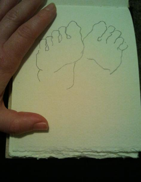 Foot sketch by Sonja Barfoed