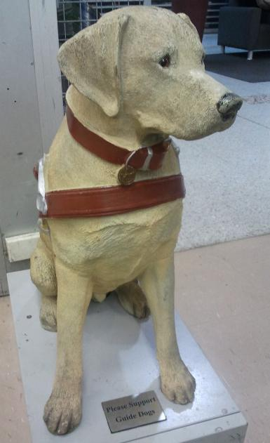 Statue of a Guide Dog at Tuggeranong Hyperdome