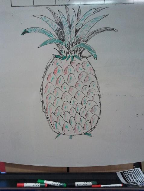 Pineapple drawing by Vicki