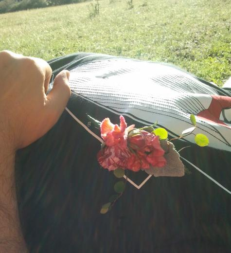 Sleeping groom with boutonniere by The Snail and Petal