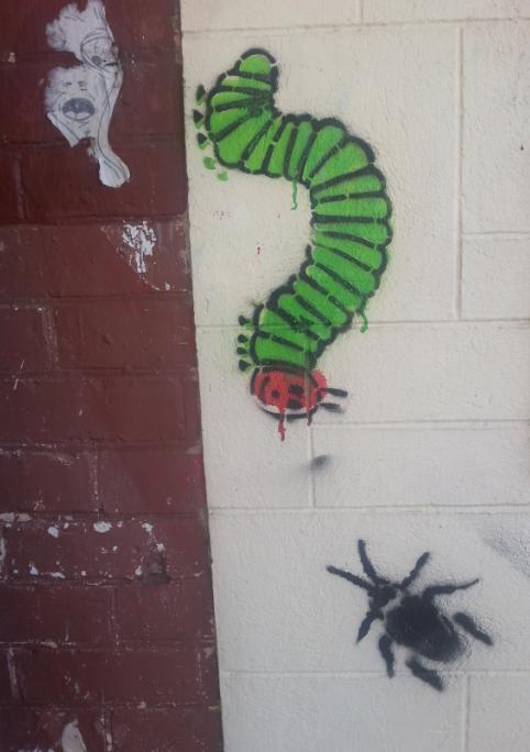 Eric Carle caterpillar stencil at Brighton