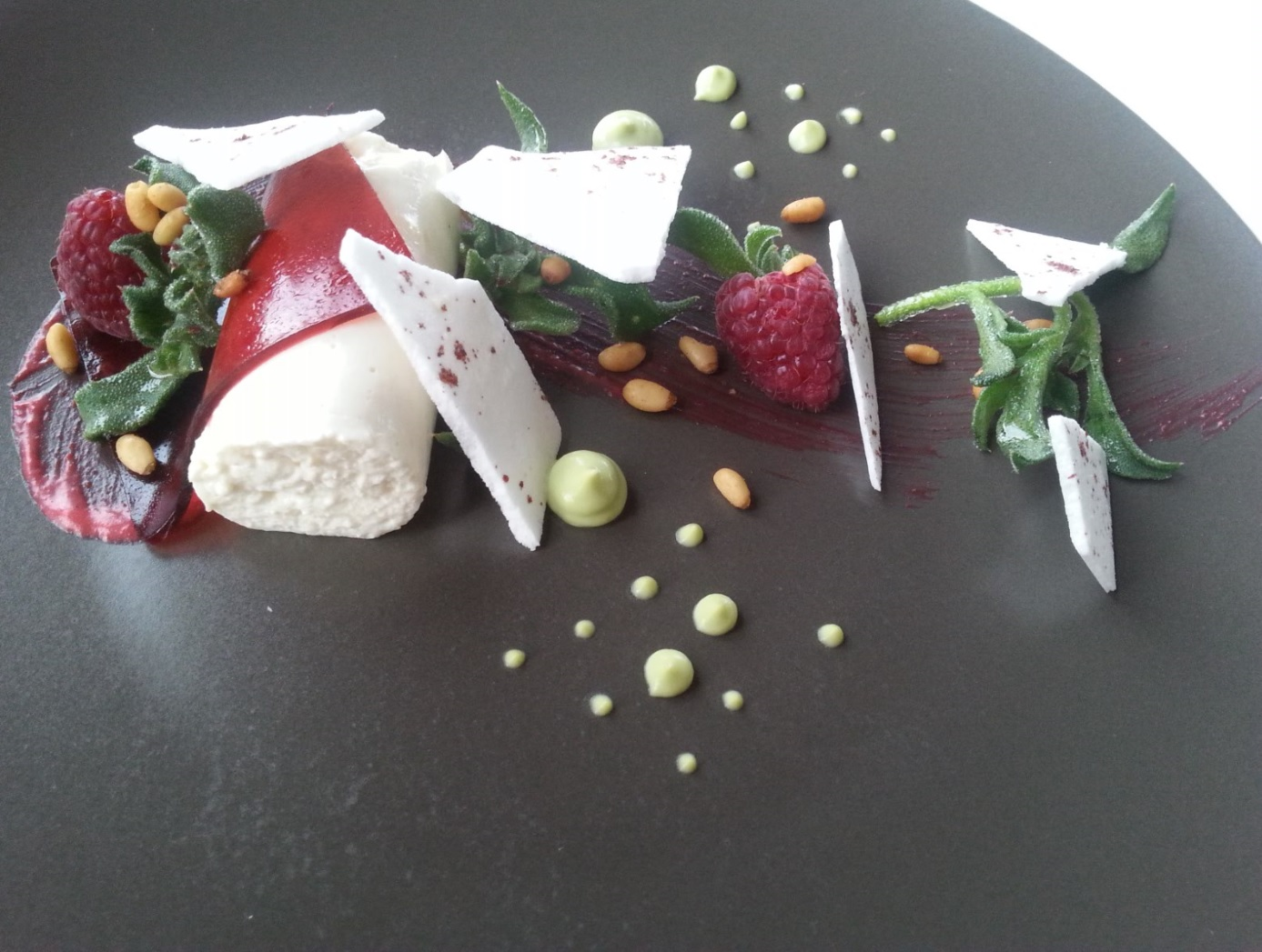 Vegan course at Waters Edge restaurant, Canberra