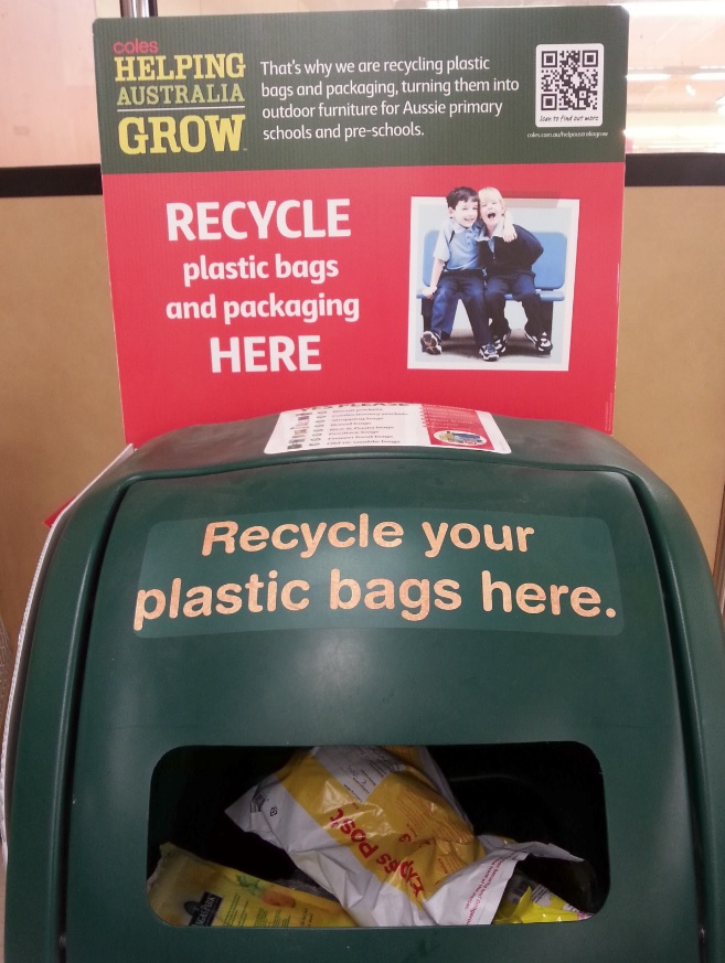 REDcycle bin at Coles