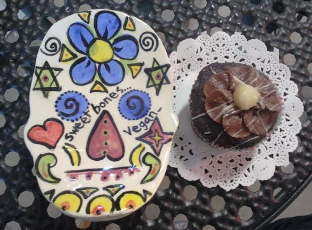 Sweet bones vegan cupcake