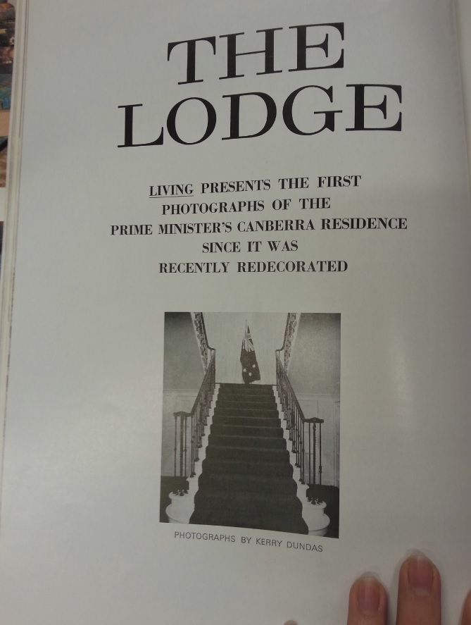 The Lodge article cover page