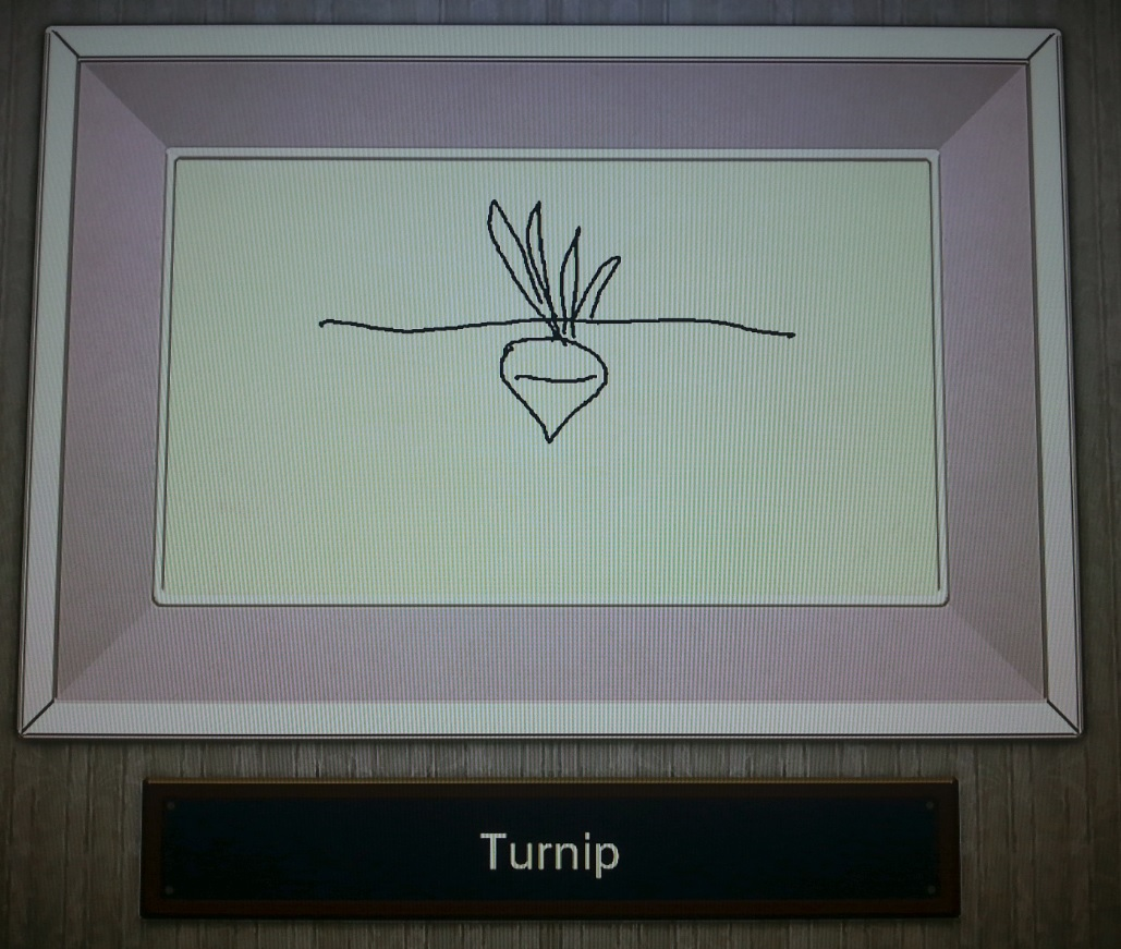 Turnip drawing in Nintendo sketch program
