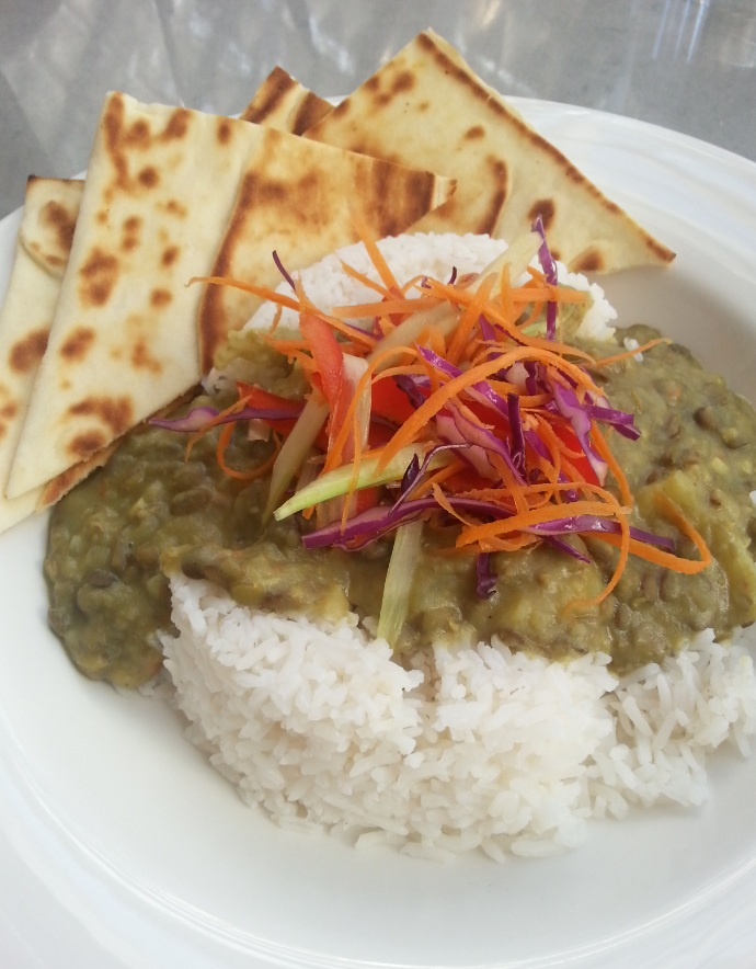 Vegan curry of the day at NGA cafe, Canberra
