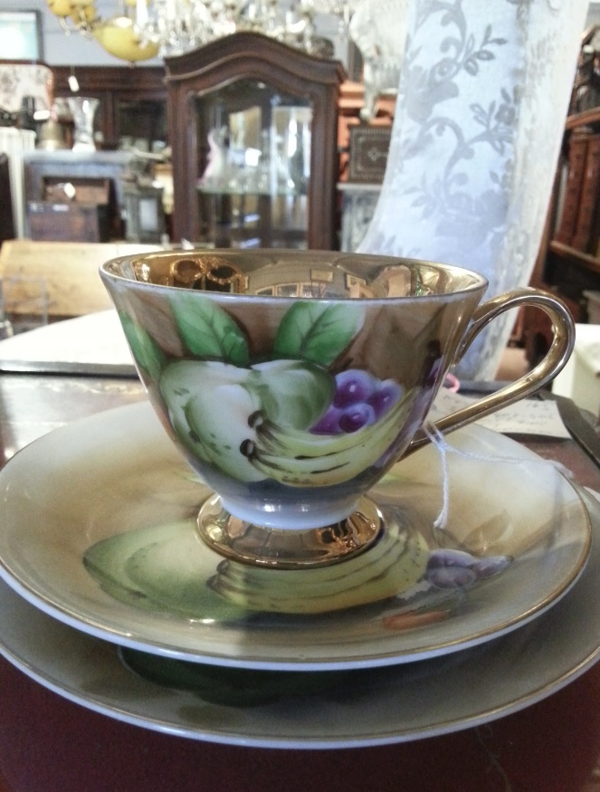 Japanese hand-painted cup at Village Antiques