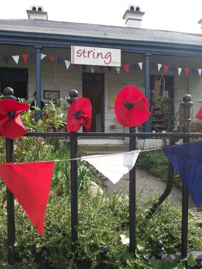 Poppies and bunting at String