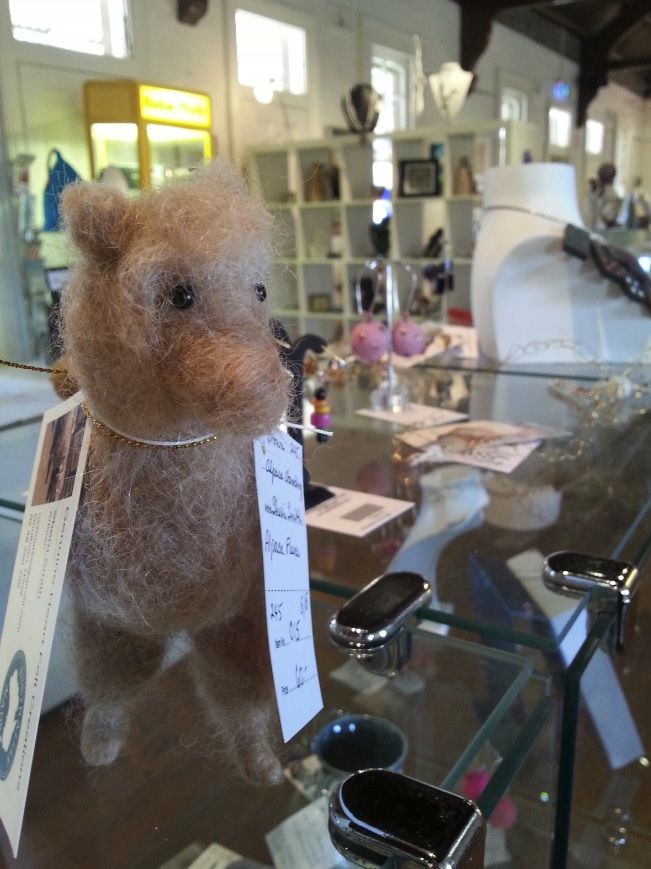 Alpaca toy by Sherri Smith at Gallery on Track, Goulburn