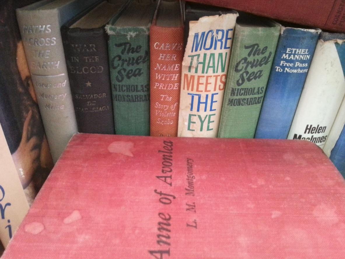Book spine poetry at the Argyle Emporium, Goulburn