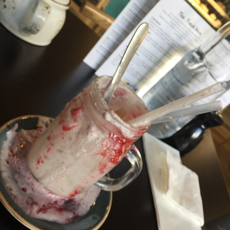 Completed Vegan freakshake at Patissez, Civic, Canberra, Australia