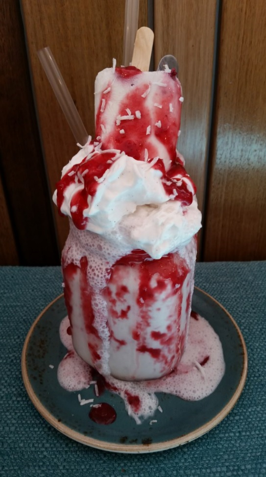 Vegan freakshake at Patissez Civic, Canberra, Australia