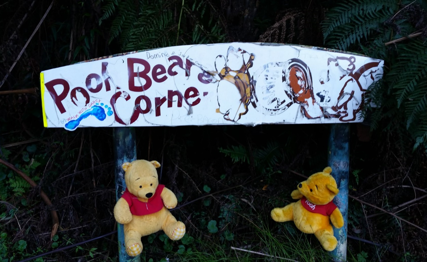 Pooh Bear Corner sign, Australia (May 2016)